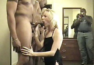 blonde wife sucks 4 dicks - 5 min