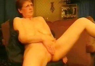 Hot granny rubbing her pussy. Amateur older - 1 min 37 sec
