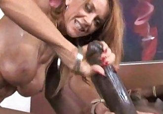 Redhead Cougar Rides Black - 5 min