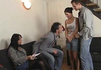 She gets involved into family 3some - 6 min