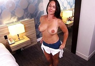 Hot horny tan MILF fucks analHD