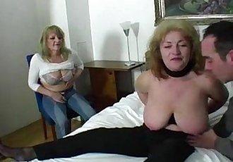Lucky guy fucks two amazing grannies - 6 min