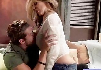 Housewife With Big Juggs Fucks On Camera clip-17