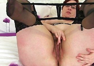 British milfs Jayne Storm and Lacey Starr fuck a dildoHD
