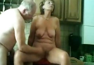 Stolen video of my gorgeous mom having fun with dad - 7 min