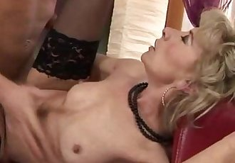 Blonde petite GILF mature fucked hard - 6 min