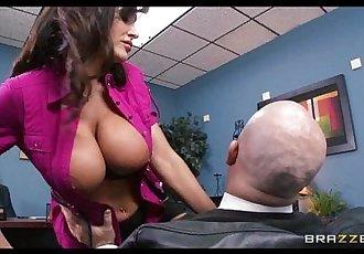 Big-tit MILF Lisa Ann Is slammed by hard cock on her bosss deskHD