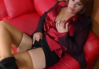 Busty Latin MILF masturbating with toysHD