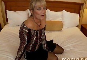 Sexy milf fucking young cock and gets facial - 5 min