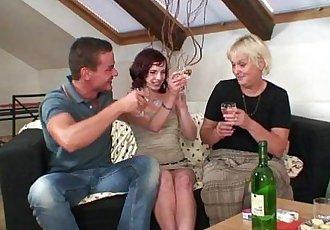 Boozed granny seduces her son in law - 6 min