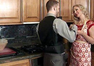 Real cougar wife tasting jizz - 8 min HD