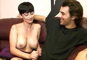 Sexy Milf Gives Some Cock Strokes