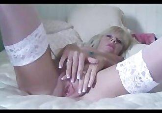 Petite Milf Strips And Fucks Her Massive Dildo