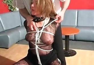 It seems like she enjoys this BDSM action