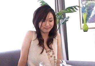 玛雅 kurihara 棒 振动器 在 毛茸茸的 缝 - 10 min