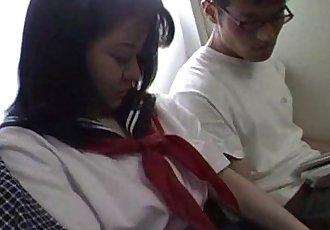 日本 青少年 在 學校 均勻 已 三人行 未經審查 - 7 min