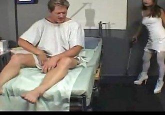 Depraved nurse fucks her patient - 19 min