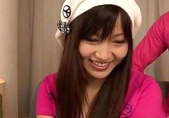 Ryo Asaka throats and fucks like a goddess - 12 min