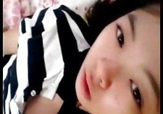 Hot asian girl fingering herself on webcam More on 69cams.net - 6 min
