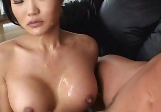 Asian brunette whore sucks and gets ass fucked real rough - 8 min