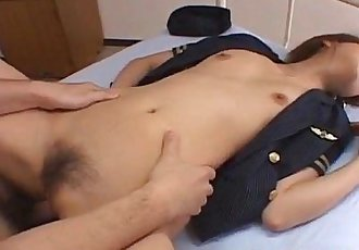 Rio Sakaki has hairy snatch licked and fucked - 10 min