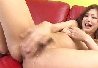 Suzuka Ishikawa plays nasty on her creamy pussy - 10 min
