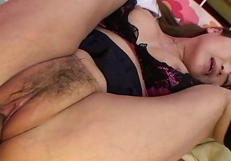 Asian skank gets her wet pusys dick filled up - 8 min HD