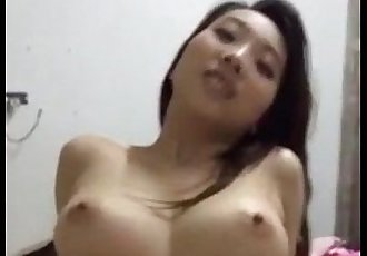 Korean Riding on An Asian Dick - 30 sec