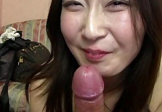 Subtitled Japanese gravure model hopeful POV blowjob in HD - 5 min HD