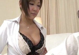 Naughty Hiyoko Morinaga uses her tits to stroke the cock - 12 min