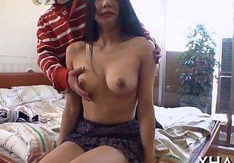 Japanese?slut fucks with marital-device - 5 min