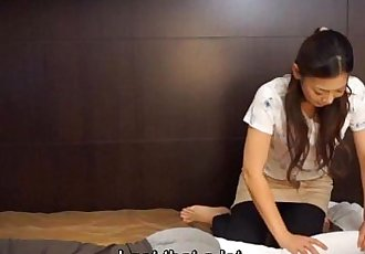 Japanese hotel massage gone wrong Subtitled in HD - 5 min HD