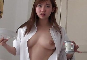 完美的 可爱的 乐趣 亚洲 哟 青少年 性爱 在 家 - 2 min