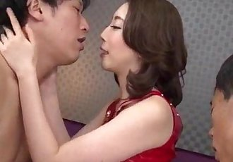 Asian wife Aya Kisaki loves fucking in threesome - 12 min