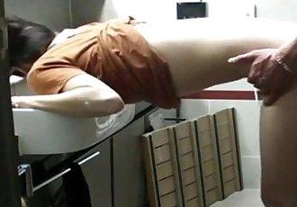 hot Korean chick gets fuck in bathroom - 20 min