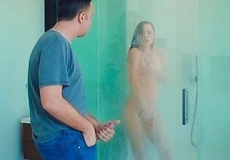 Guy fuck friends sis Aidra Fox in shower
