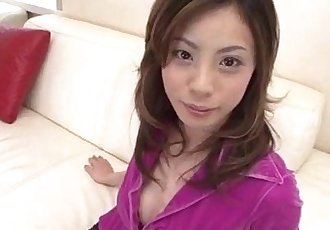 Natsumi Mitsu blows it hard before getting it in her vag - 10 min