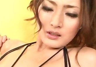 Strong masturbation show for hot?Risa Murakami? - 12 min
