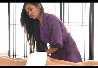 拉娜 紫羅蘭色 按摩 一個 國 女孩 - 10 min