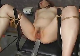 Japanese slave gets pussy filled by cum 5 min