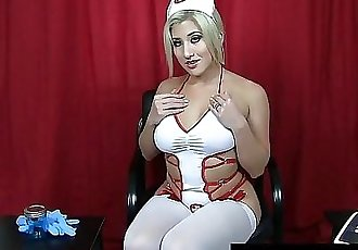 JOI Nurse Cristi Ann Helps You Cum For The Sperk Bank! 7 min 1080p