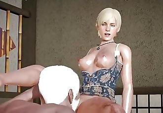 Old man make pussylicking , RESIDENT EVIL SHERRY BIRKIN, xxx videogame
