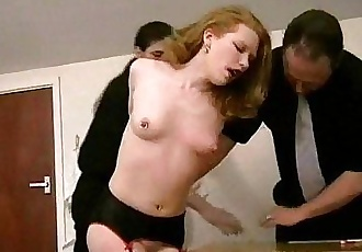 Rough Spanking of Madison Young and degrading domination of the american fetish