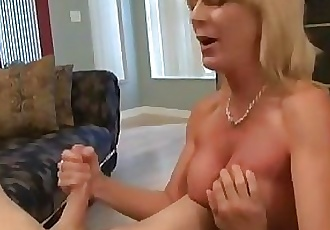 mom handjob friend son