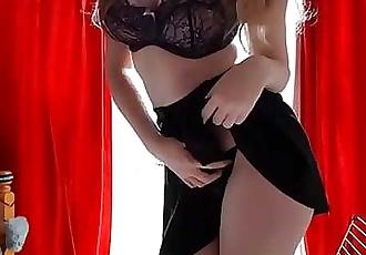 school girl undressing