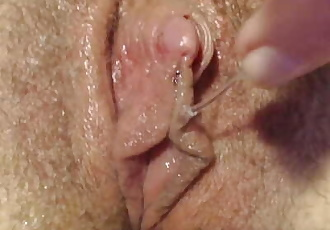 wet pussy play with big clit