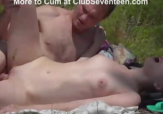 Skinny Vika Lita Has a Huge Appetite for Cock in Nature