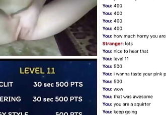 Omegle Game - Athena squirt on the carpet