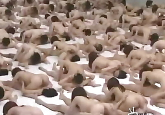 Japanese Orgy of 500 People