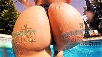 EPIC ASS! Best of 2015! Huge Round Ass Teen! Pool Tease! - 1 min 1 sec HD